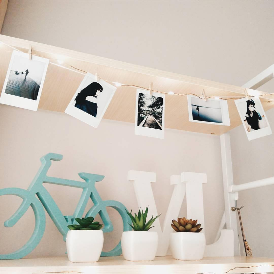Id e d co loft mur polaro d mode loft - Mur photo polaroid ...